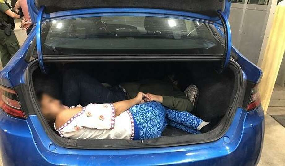 U.S. Border Patrol agents prevented two human smuggling attempts via car trunk. Photo: Courtesy Photo /U.S. Border Patrol