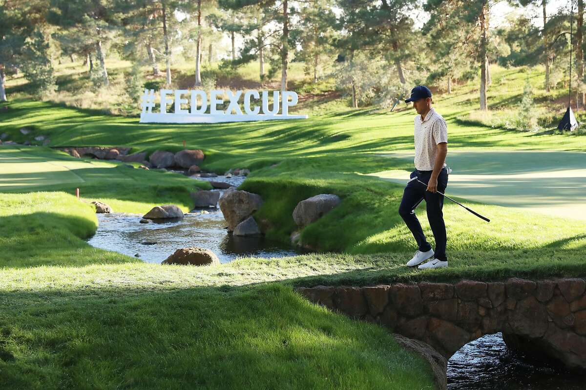 Russell Henley walks the 15th hole during the third round of the CJ Cup in Las Vegas.