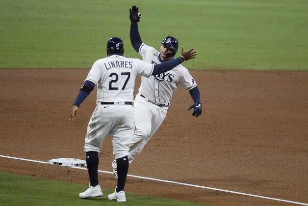 Tampa Bay Rays Mike Zunino rounds the bases after hitting a solo home run off Houston Astros starter Lance McCullers Jr. of Game 7 of the American League Championship Series at Petco Park Saturday, Oct. 17, 2020, in San Diego. Photo: Karen Warren/Staff Photographer / © 2020 Houston Chronicle