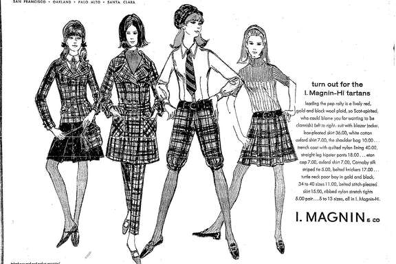 Mod Tartan wear for women from I. Magnin, ugust 13, 1966