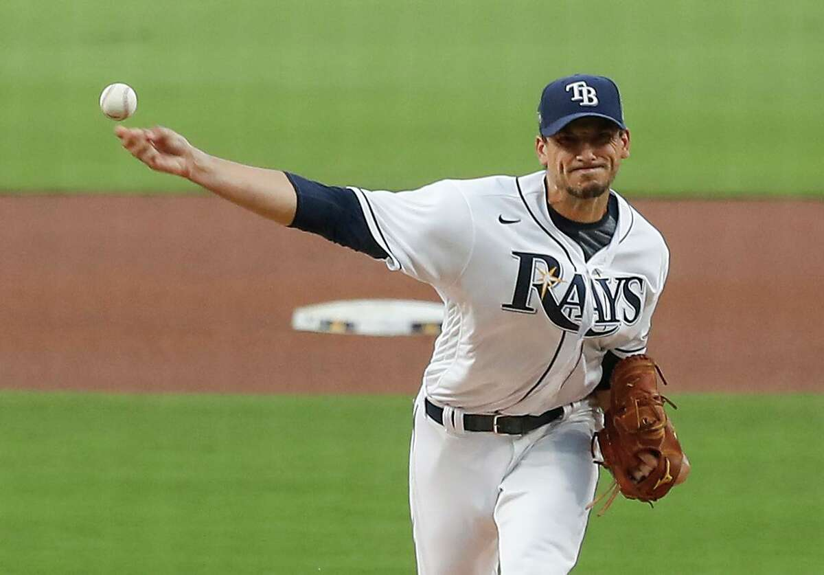 Rays righthander Charlie Morton, pitching to Jose Altuve, allowed two hits and struck out six in 52/3 innings Saturday.