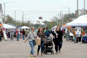 Shoppers fill Boston Avenue, perusing the vendor booths and open shops, during Nederland's Fall Fest Saturday. Photo taken Saturday, October 17, 2020 Kim Brent/The Enterprise
