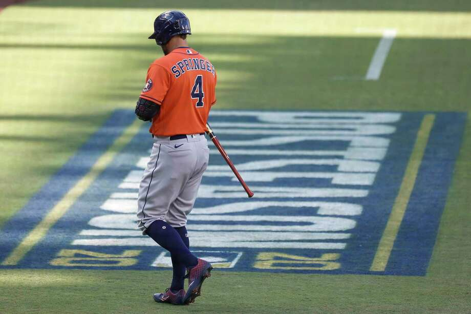 George Springer, outfielder2021 salary: Free agentContract: 1 year, $21 million (expired after this season)Is a free agent  Photo: Karen Warren, Houston Chronicle / Staff Photographer / © 2020 Houston Chronicle