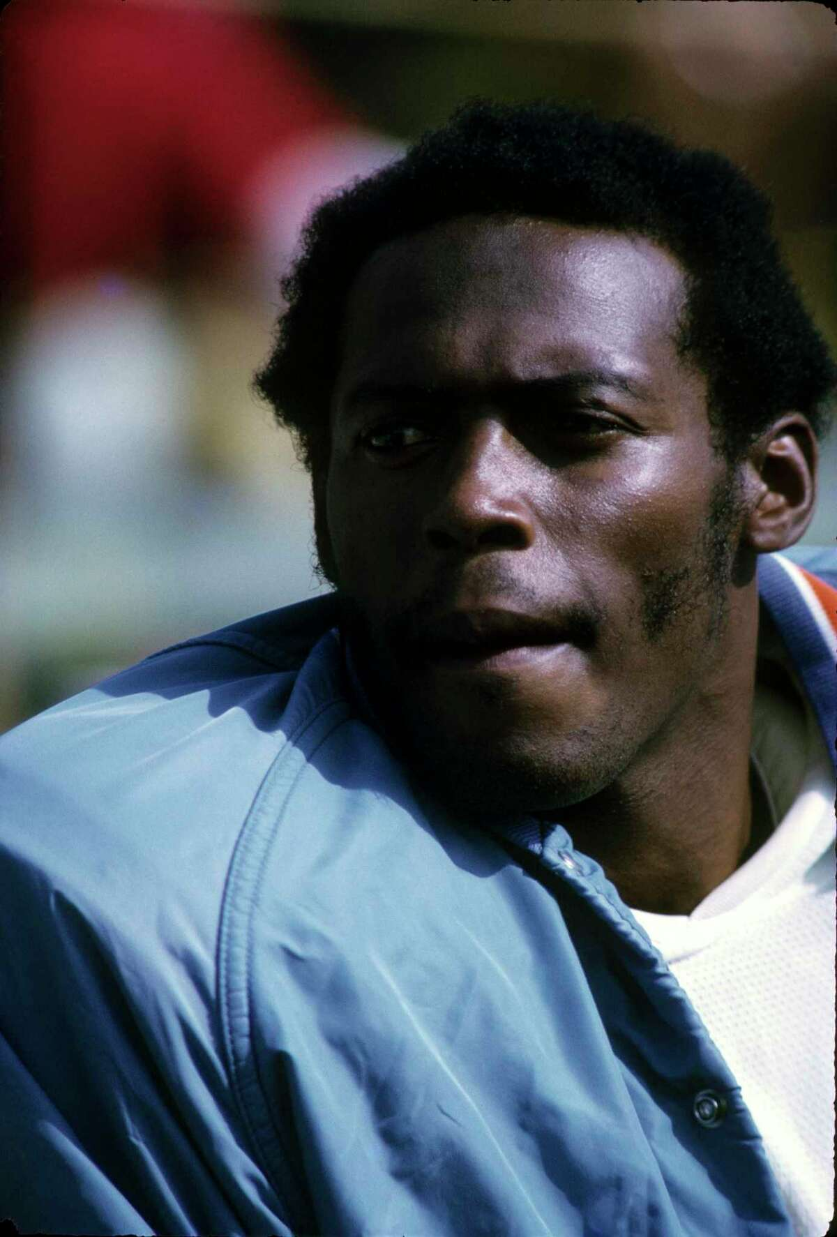 UNDATED -1971: Runningback Floyd Little of the Denver Broncos looks on from the sidelines during a game in the 1971 Season. (Photo by:Diamond Images/Getty Images)