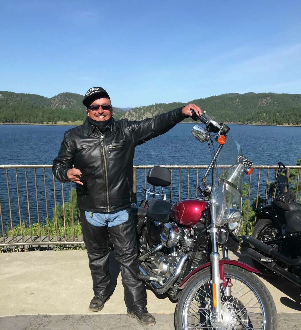 Kenny Cervantes rode his motorcycle from Nebraska to Sturgis, S.D. in August.