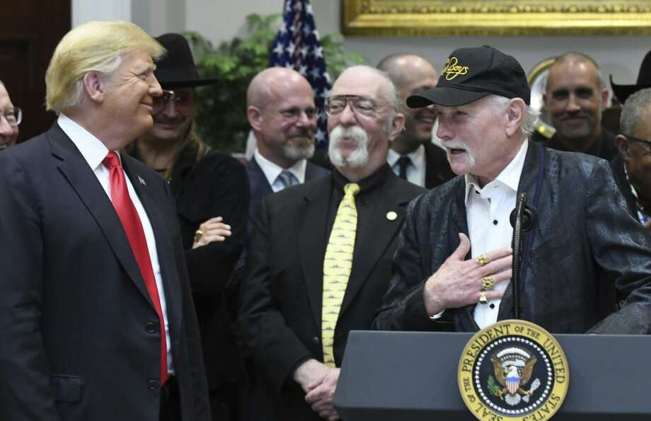 FILE -- The group booked for Trump's fundraiser is a licensed touring edition led by Mike Love, who has not been shy about appearing with Trump in the past. Photo: Sipa USA Via AP