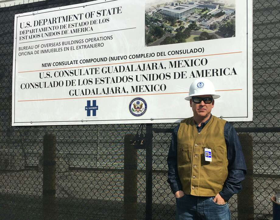 Federico Casso is pictured in front of the construction site for the New Consulate Compound in Guadalajara, Mexico. Photo: Courtesy /U.S. Department Of State