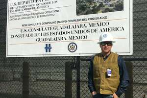 Federico Casso is pictured in front of the construction site for the New Consulate Compound in Guadalajara, Mexico.