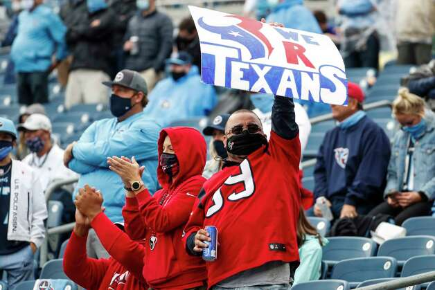 Houston Texans fans cheer during the third quarter of an NFL football game at Nissan Stadium on Sunday, Oct. 18, 2020, in Nashville. Photo: Brett Coomer, Staff Photographer / © 2020 Houston Chronicle