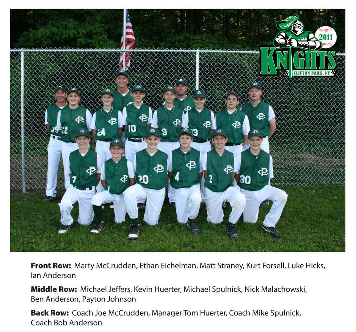 Ian Anderson and Kevin Huerter were part of an under-12 baseball team, the Clifton Park Knights, which played in the Cal Ripken League World Series in Maryland in 2011.