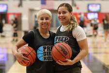 United South's Dezerae De La Garza and United's Evelyn Quiroz were in Dallas this weekend to compete in the Prep Girls Hoops Top 250 Showcase at Drive Nation Sports Complex.