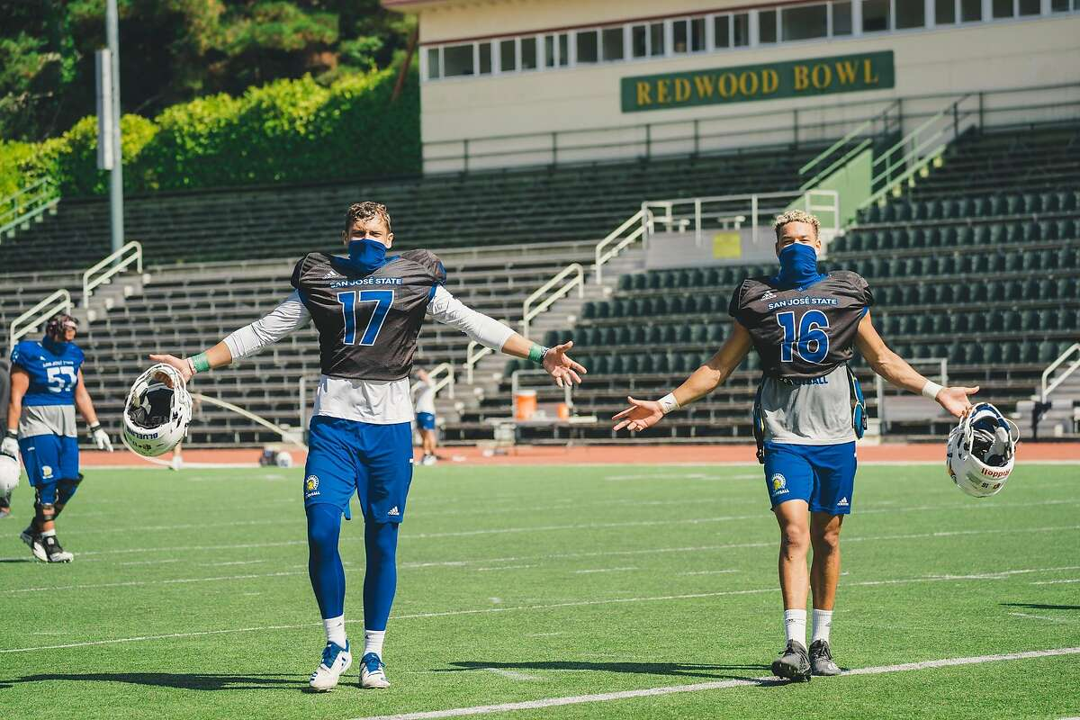 San Jose State, with quarterbacks Nick Starkel (left) and Nick Nash, opens its season at 7:30 p.m. Saturday (FS1/1220) against visiting Air Force.