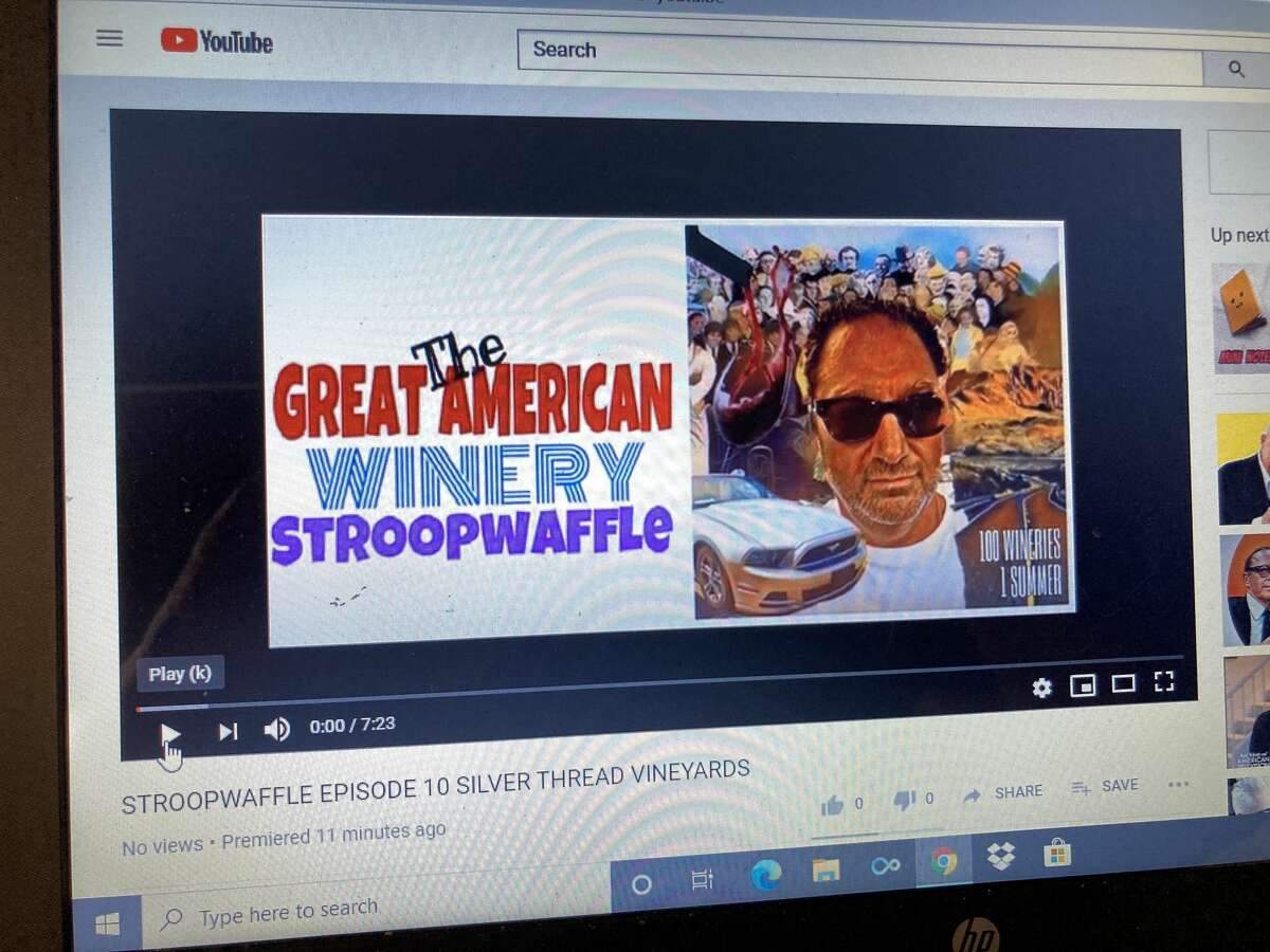 Scenes from Carlo DeVito's great North American winery tour have been captured in YouTube videos.