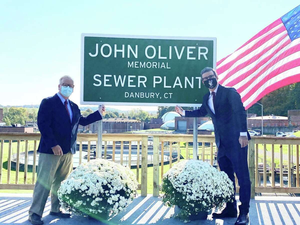 HBO comedian John Oliver secretly visited Danbury to cut the ribbon on the