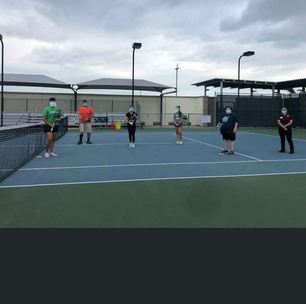TAMIU College of Nursing and Health Sciences, Dr. F. M. Canseco School of Nursing students provided preventative health education and group activities, including a tennis class via Zoom.