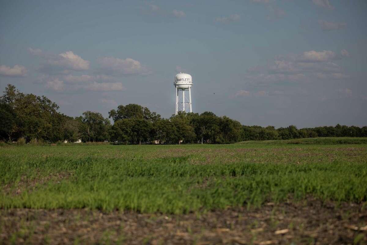 Farmland on the outskirts of Bartlett, Texas.