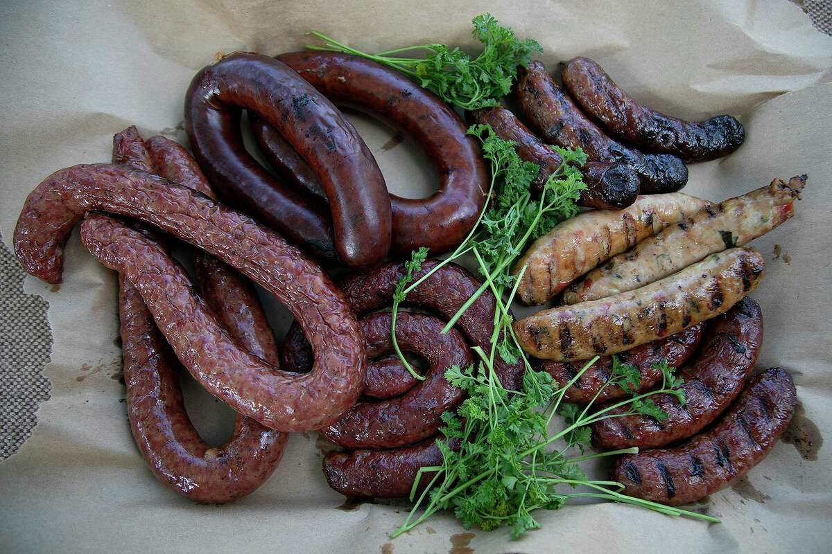 An assortment of locally available sausages