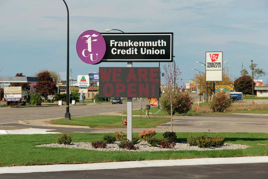 The Frankenmuth Credit Union Bad Axe location, which opened at the beginning of the month. (Robert Creenan/Huron Daily Tribune)