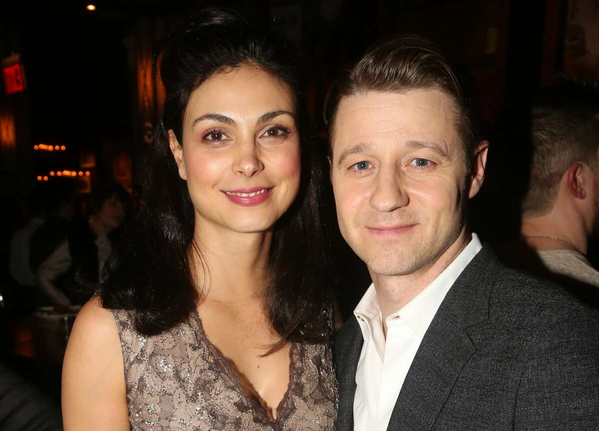 Morena Baccarin and Ben McKenzie pose at the opening night after party for the new Second Stage play
