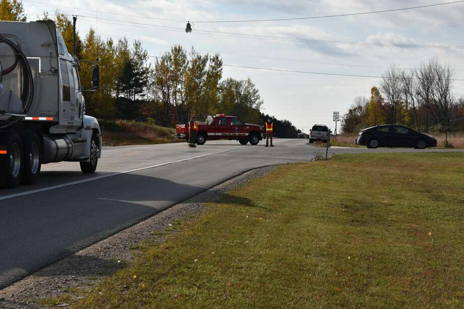 Little River Band of Ottawa Indians Department of Public Safety officers responded to the initial crash but when they were on the scene of that crash, another call came out for a secondary car crash that occurred on Fox Farm Road. Photo: Arielle Breen/News Advocate