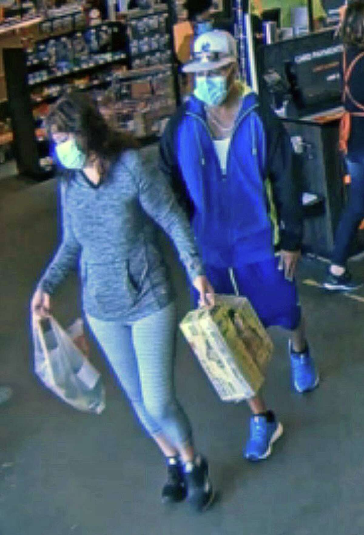 Police ask anyone who might recognize either of these two suspects to call 203-385-4142.