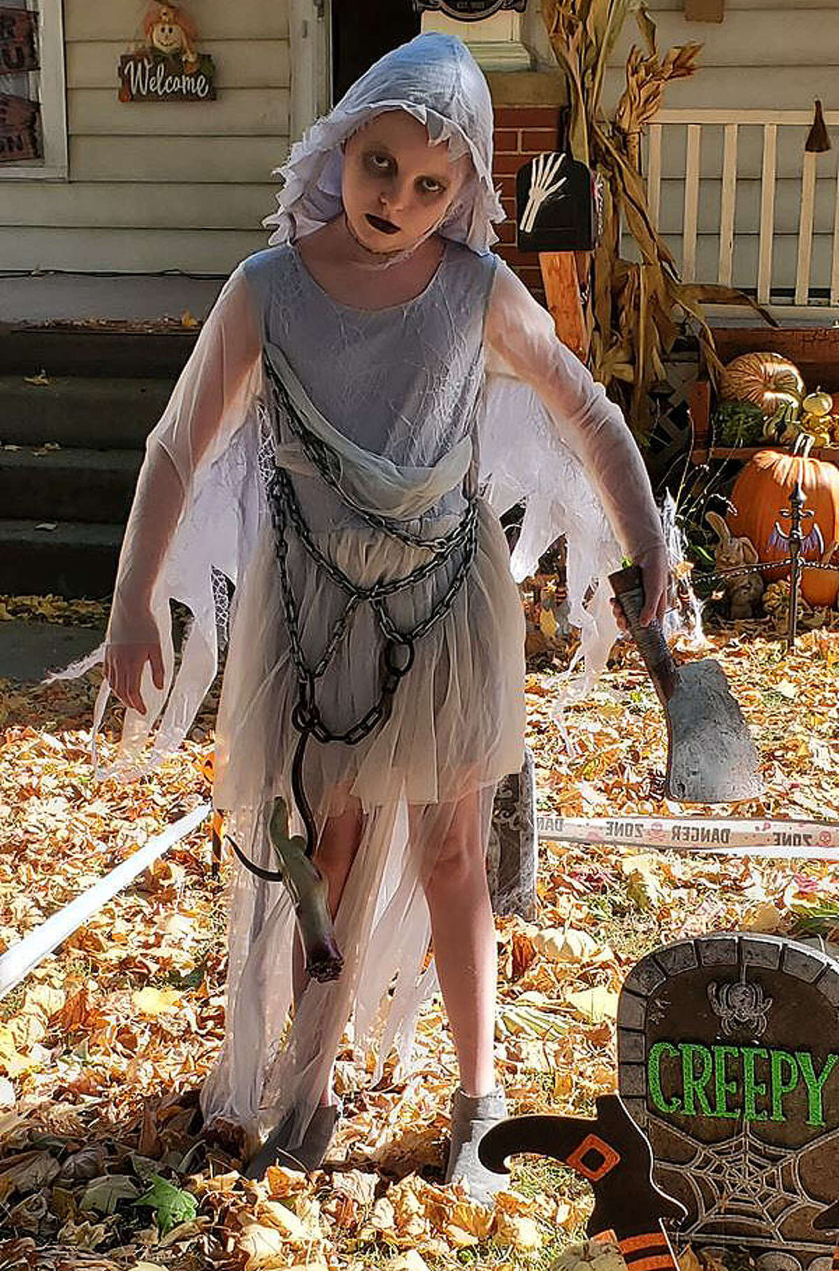 Karlie Probst of Jacksonville shows off her Halloween costume. She is one of the entries in the Journal-Courier's Halloween Costume Contest online.