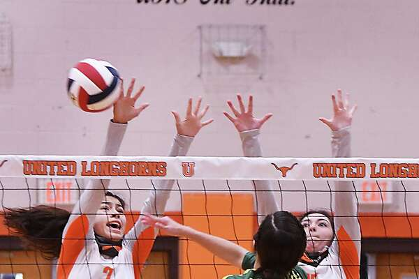Alejandra Vazquez, Ivanna De La Pascuaa and the Lady Longhorns defeated the Lady Mustangs on Saturday.
