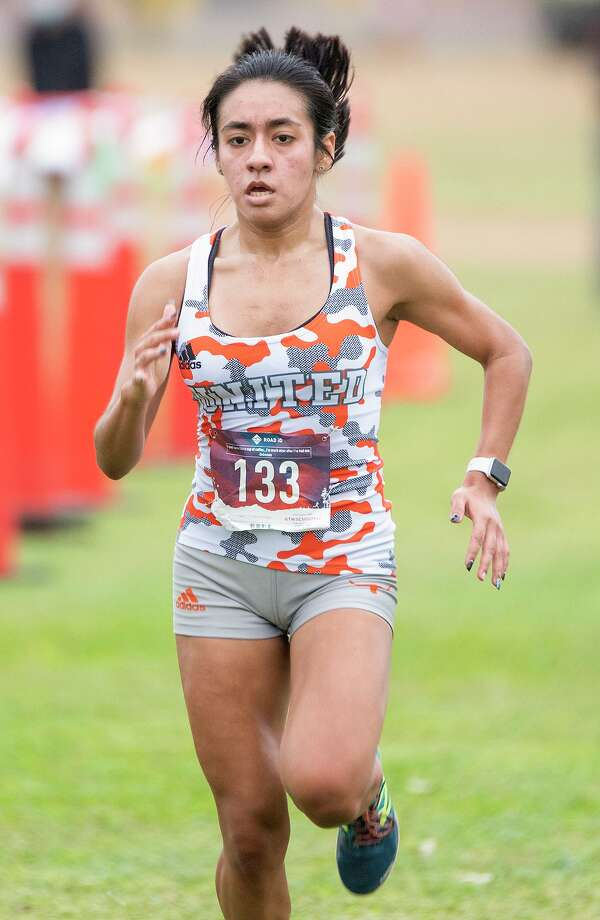 United's Valerie Garcia won the girls' individual title at the UISD cross country meet on Saturday. Photo: Danny Zaragoza /Laredo Morning Times