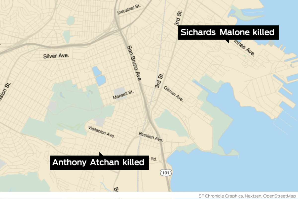 Two San Francisco men were shot and killed Friday in separate incidents. City officials later identified the two men slain, the latest victims in a troubling rise in deadly gun violence this month