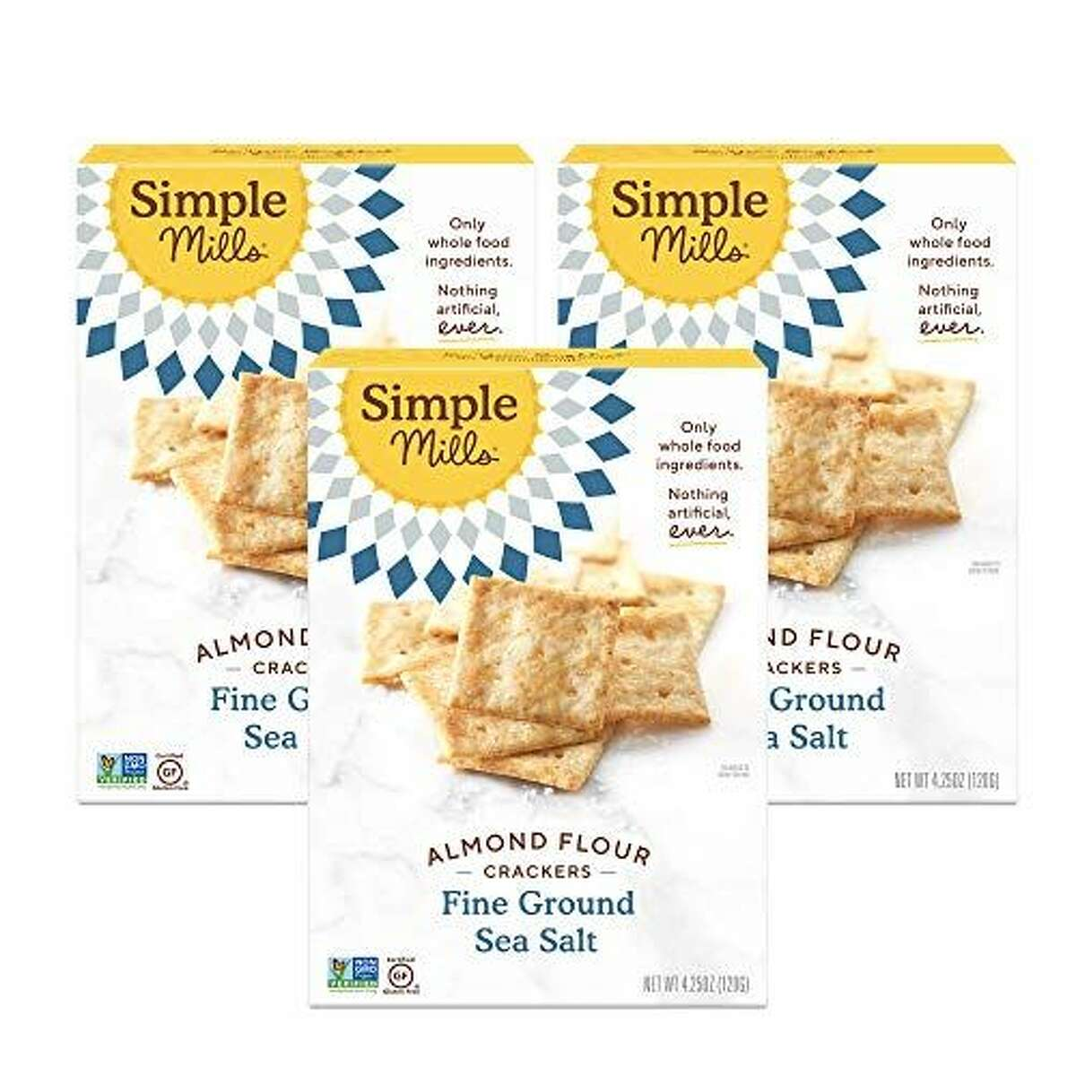1) Simple Mills Almond Flour Sea Salt Crackers, 3-Pack: $13.47 Shop Now Sometimes you just want a nice, salty bite with no other strong flavors butting in.