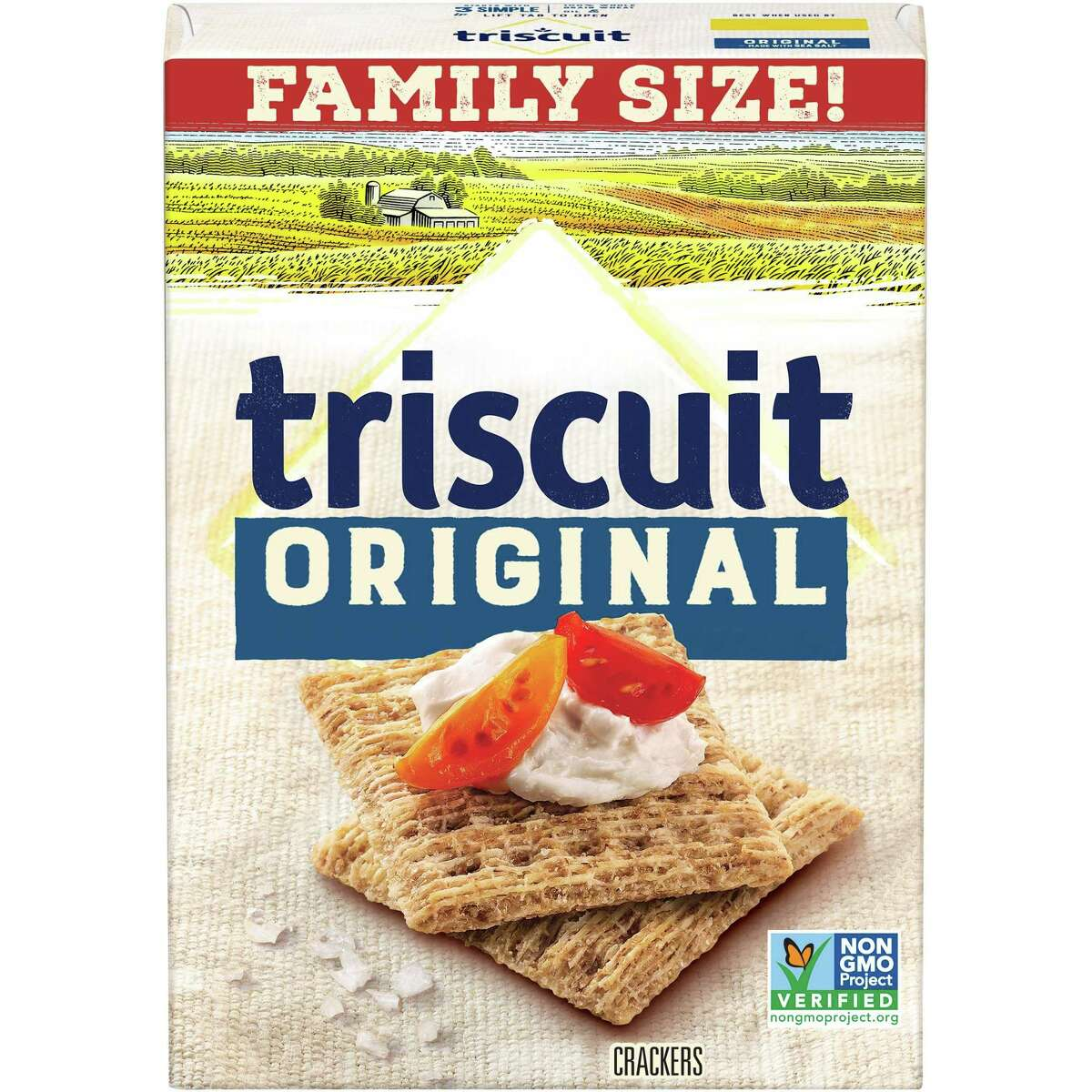 2) Triscuit Original Whole-Grain Wheat Crackers: $3.36 Shop Now These classics are hearty and salty, and you're liable to see them at any party you attend. They may not be the absolute most nutritious choice, but you needn't steer clear, either.