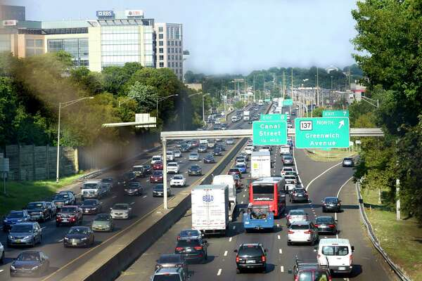A view of Interstate 95 in Stamford, one of the state's economic hubs. Connecticut added about 17,000 jobs in September, according to preliminary data from the state Department of Labor.