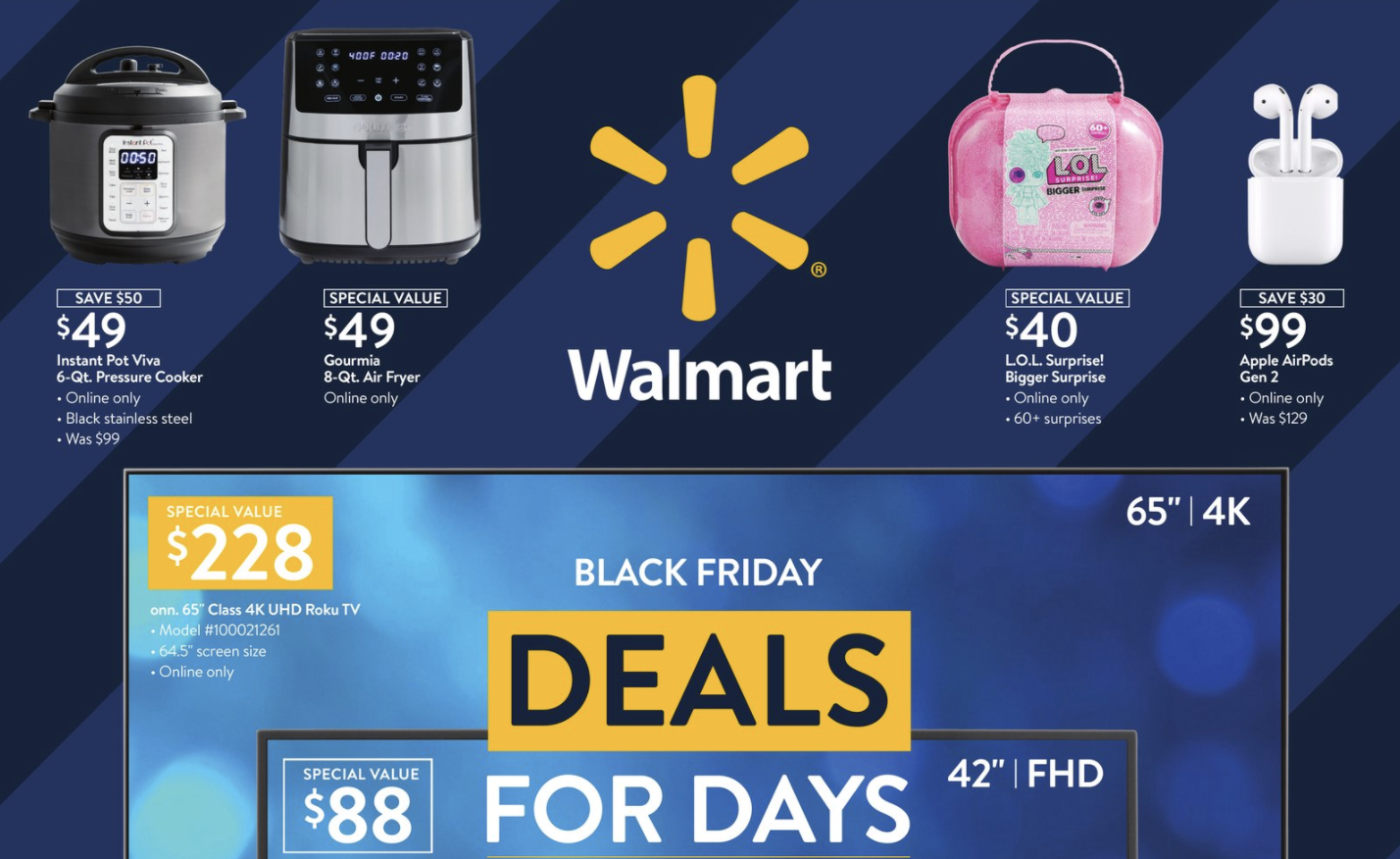 Walmart Black Friday Deals Three Sales Events Beginning Nov 4