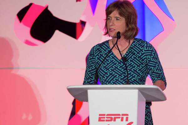 ESPNW's Carol Stiff speaks to the audience during a 2015 summit at St. Regis Monarch Resort in 2015.