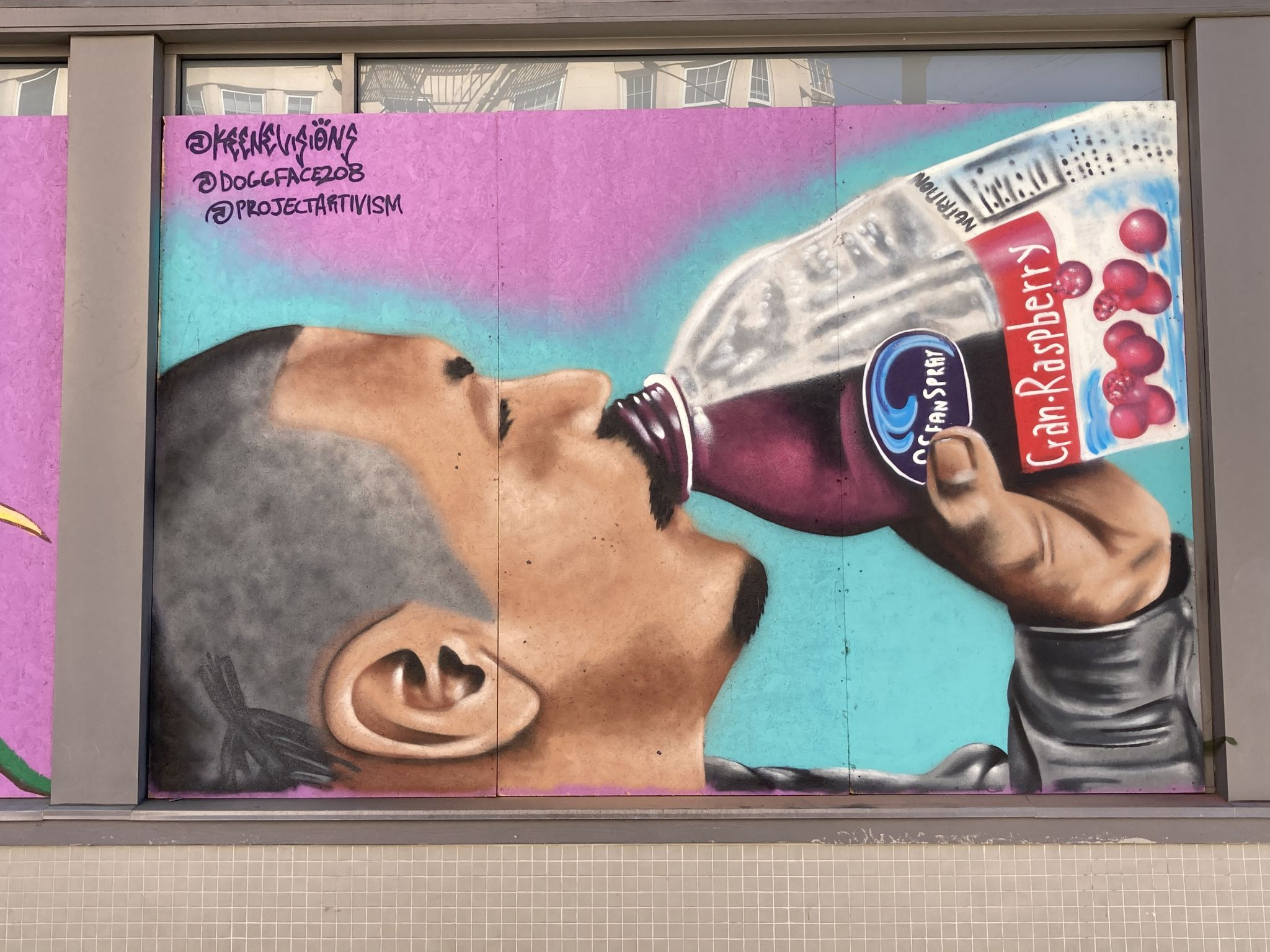 'He's a light when we needed it most': Mural of viral Oceanspray star goes up on Haight St.
