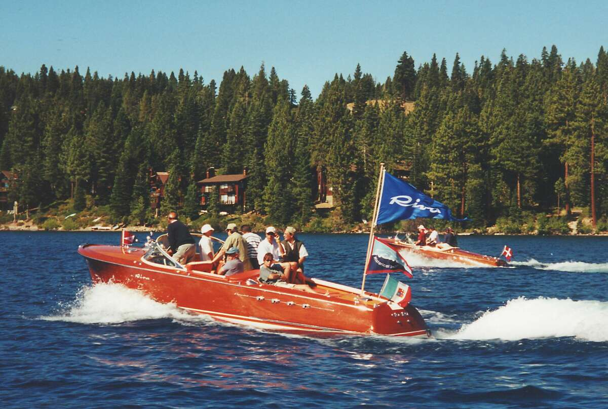 Tahoe has long held on to wooden boats as part of its cultural history. A'Riva' boat meeting on Lake Tahoe in Nevada in 1995.