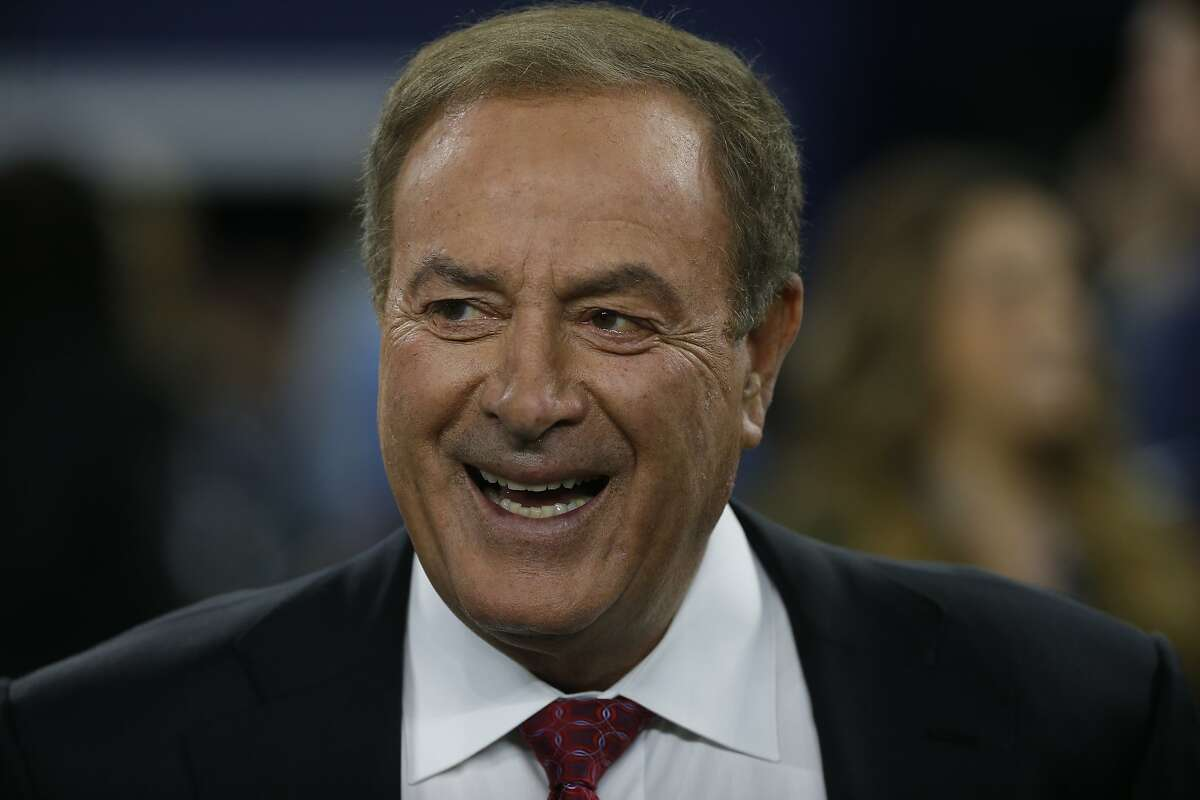 """Al Michaels said his comments from Levi's Stadium two weeks ago - which were widely interpreted as being anti-mask - came after Santa Clara County's response added a """"certain absurdity to this situation."""""""