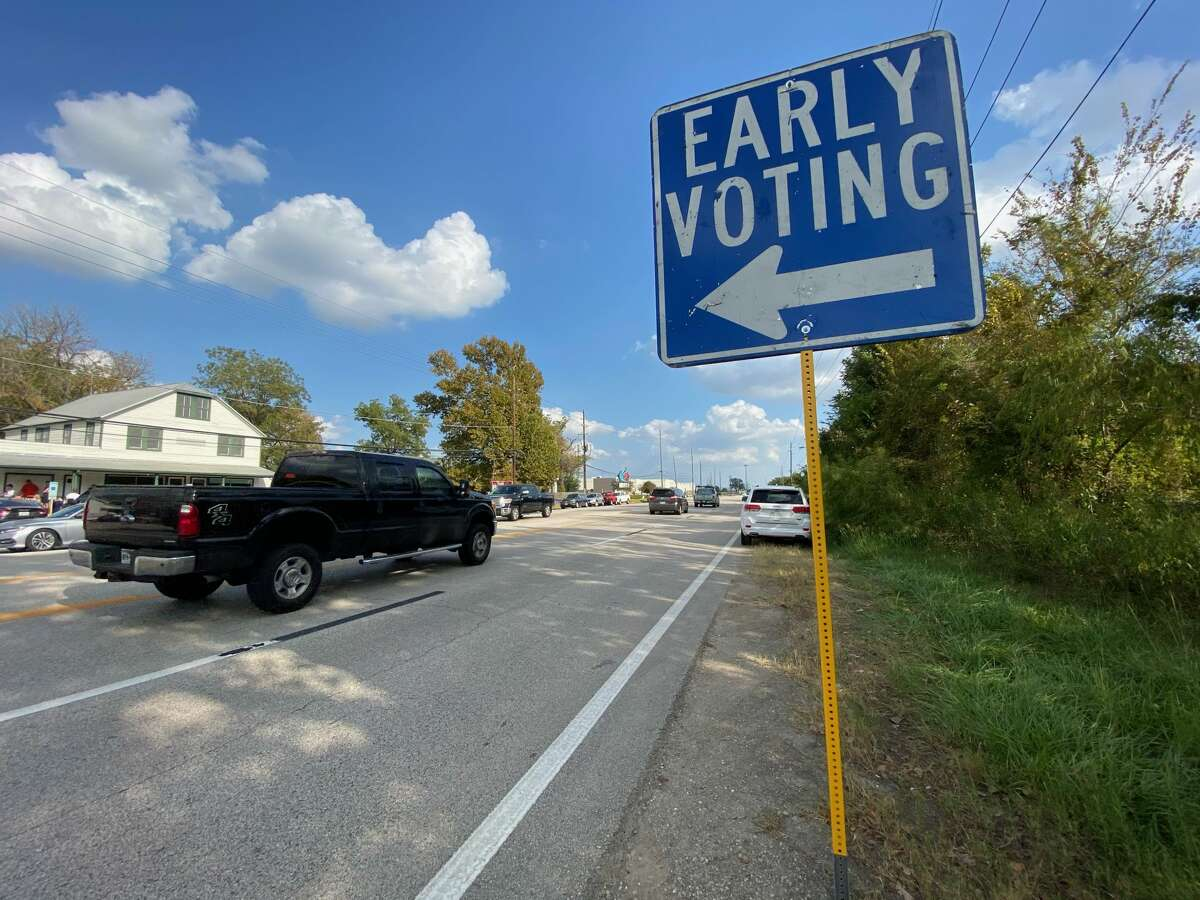 Early voting in Cypress, where you park and cross the street to cast your ballot.