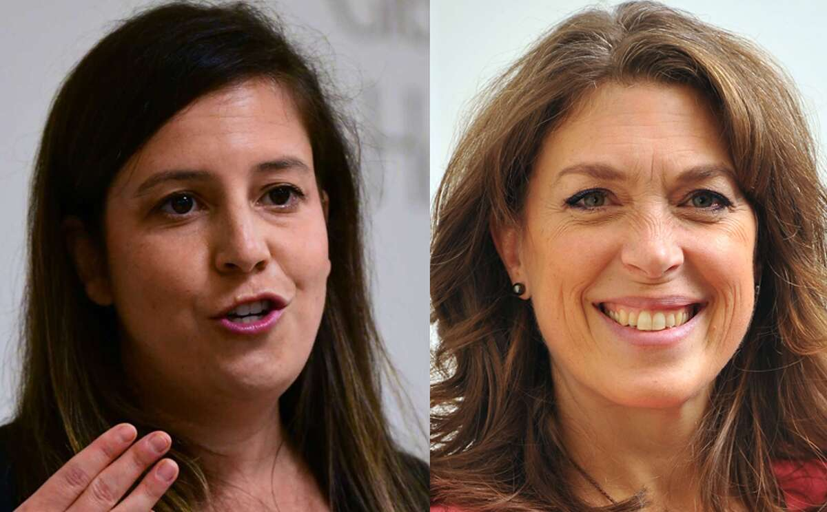 Elise Stefanik, left (Lori Van Buren/Times Union); and Tedra Cobb (photo provided)