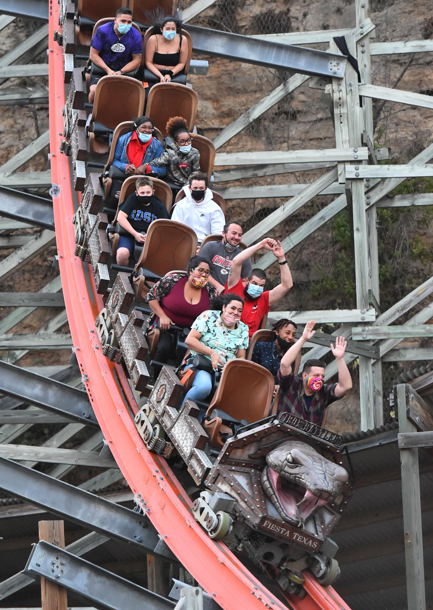 Following Express-News report, city inspectors to determine if Six Flags Fiesta Texas is complying with COVID-19 rules