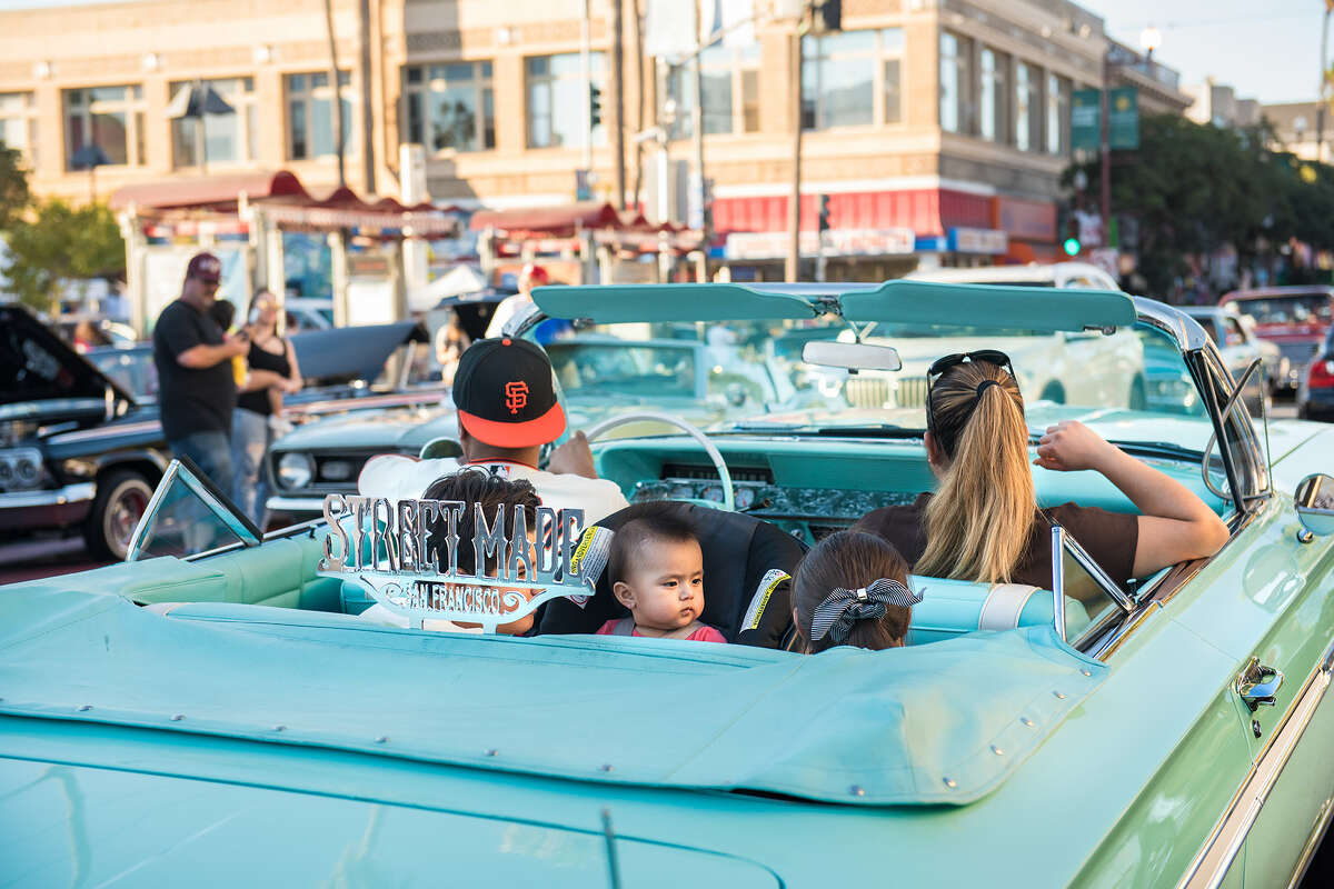 The San Francisco Lowrider Council gathered Saturday, Oct. 17, 2020, for their 6th annual Cold Frisco Nights in the Mission.