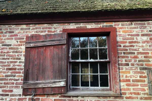 The windows of Brick School in Warren will soon be restored with wooden window frames and sashes.