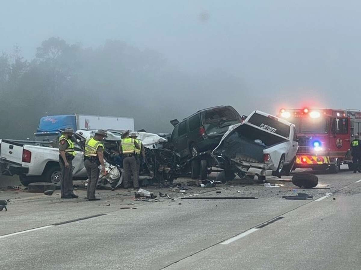 The Department of Public Safety responded to a two-vehicle crash on Interstate-10 in Orange County near Doty Road that resulted in one death. Photo taken Oct. 10, 2020.