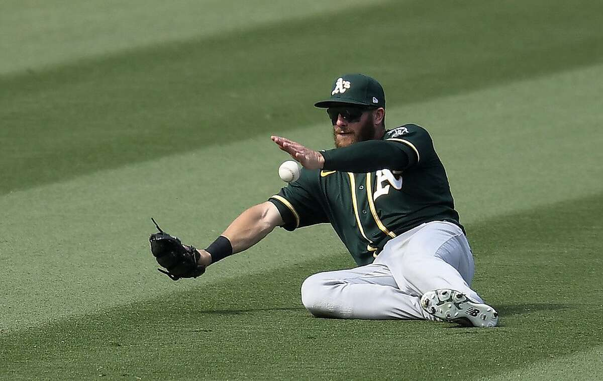 Robbie Grossman led the A's in on-base-plus-slugging percentage (.826). The switch-hitting outfielder hit eight homers in 51 games after totaling 11 in the previous two seasons combined.