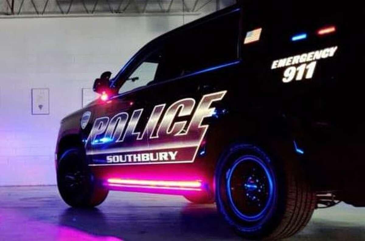 A Southbury police vehicle.