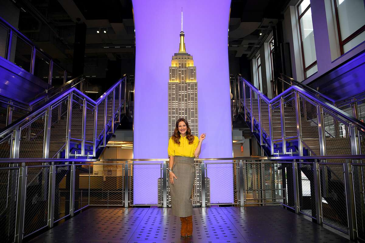 Drew Barrymore celebrates the launch of The Drew Barrymore Show at The Empire State Building on September 14, 2020 in New York City. Gavin's reaction to the news that Anthony had a message for him: