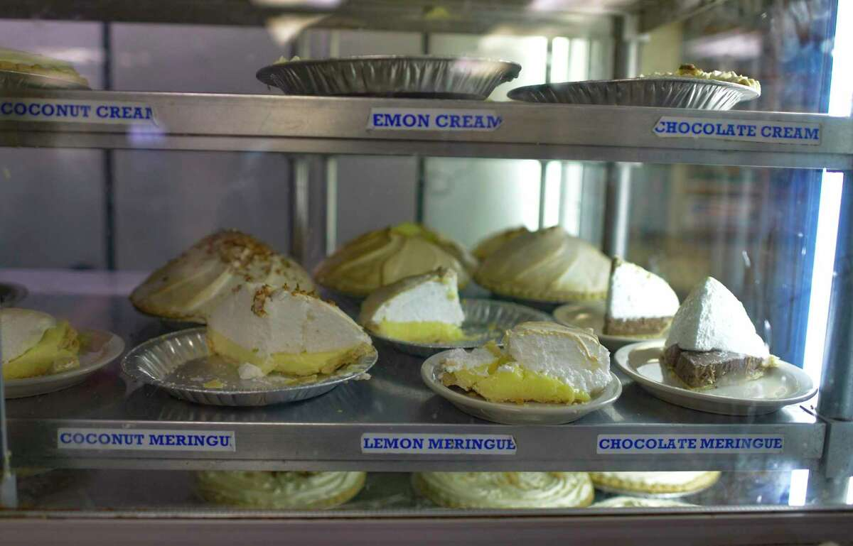 Pies include classic flavors from creams to meringues.
