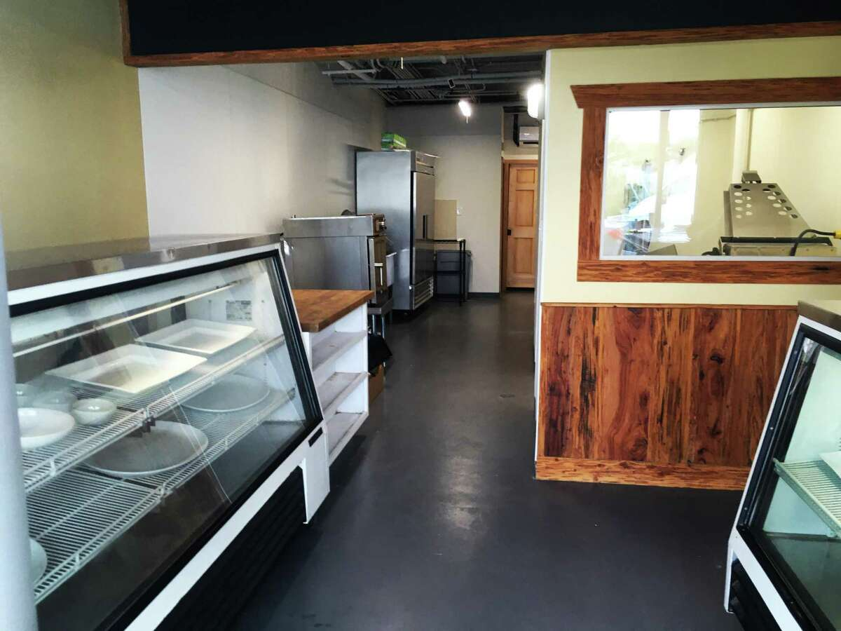 The view upon entry to The Farmers Butcher, a new meat market located in the Hackberry Market.