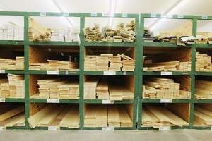 A view of the lumber area at Curtis Lumber on Monday, Oct. 19, 2020, in Ballston Spa, N.Y.  (Paul Buckowski/Times Union)