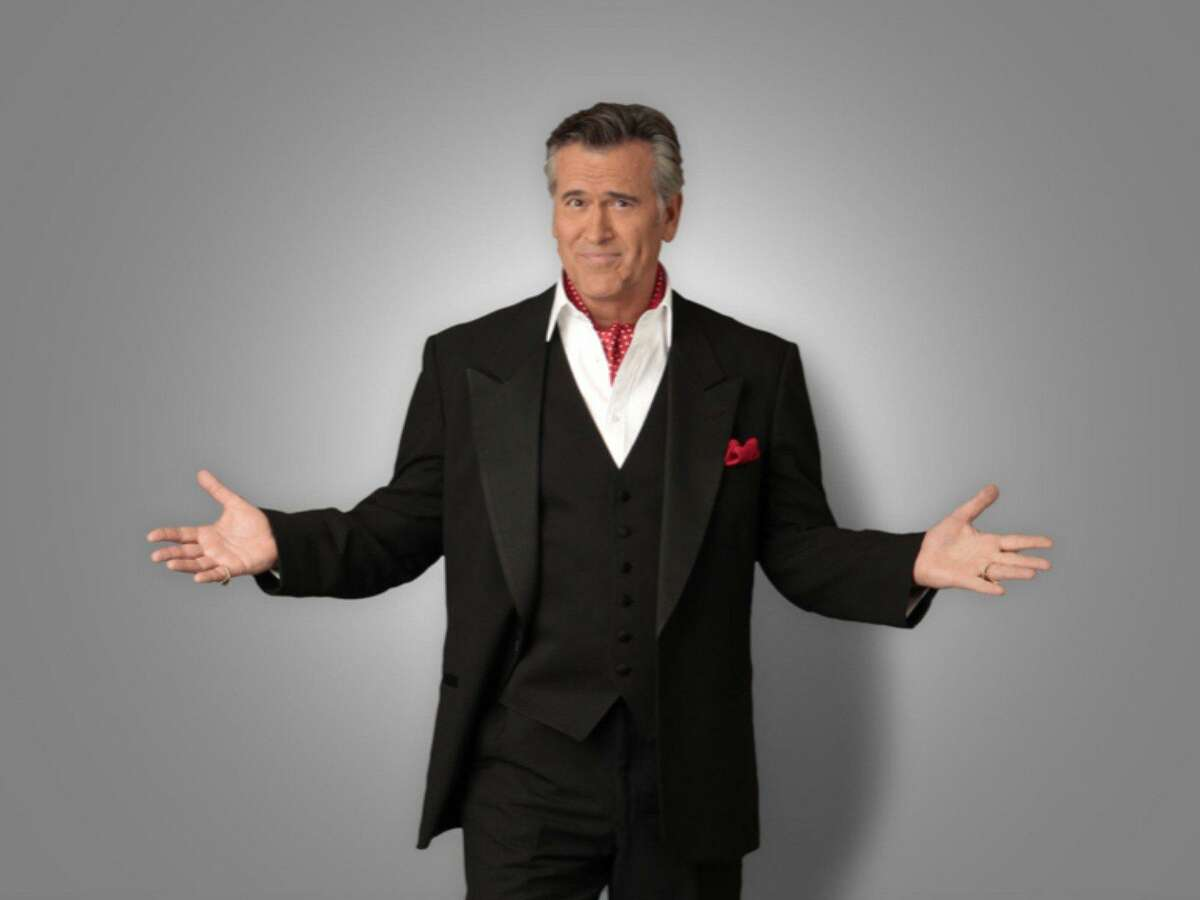 """Bruce Campbell will take part in a screening of """"The Evil Dead,"""" the cult classic that put him on the map, at the Tobin Center for the Performing arts."""